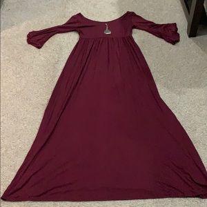 Brand new pinkblush maternity maxi dress